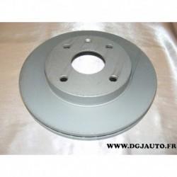 Paire de disque de frein avant 256mm diametre ventilé pour chevrolet daewoo evanda rezzo tacuma alero