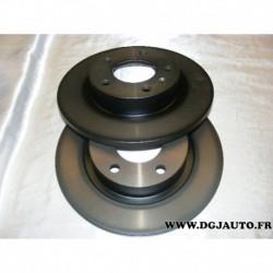 Paire de disque de frein plein 264mm diametre pour opel corsa D E adam fiat grande punto et punto evo