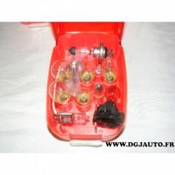 Kit boite 12 ampoules de secours pour alfa romeo giulietta (article controlé avant envoi pas de responsabilité durtant le transp