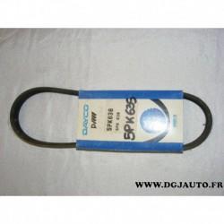 Courroie accessoire alternateur pour rover 820 118cv 138cv 2.0