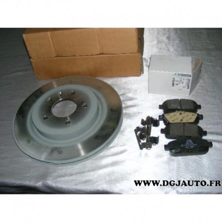 Pack freinage paire disque de frein ventilé 315mm diametre 13586855 + jeux 4 plaquettes de frein 95516196 pour opel zafira C tou