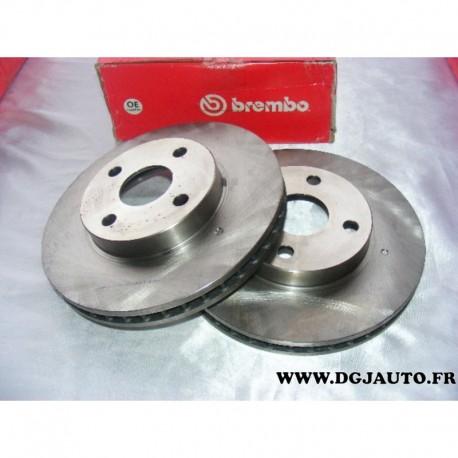 Paire de disque de frein avant ventilé 255mm diametre 09584424 pour toyota corolla 120 dont verso