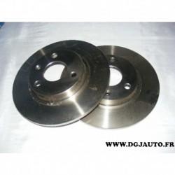 Paire de disque de frein avant plein 247mm diametre 08558310 pour citroen AX