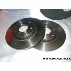 Paire disque de frein plein avant 247mm diametre NDF7276 pour citroen AX saxo