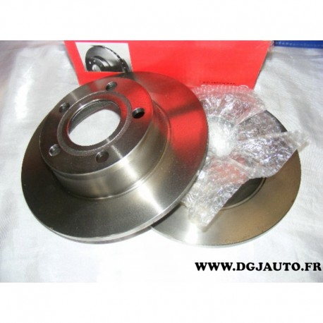 Paire de disque de frein arriere 255mm diametre plein 08975110 pour audi A6