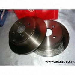 Paire de disque de frein arriere 258mm diametre plein 08A33110 pour toyota corolla 120