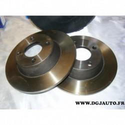 Paire disque de frein avant plein 280mm diametre NDF8014 pour audi 80