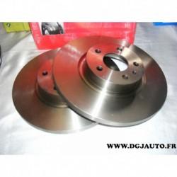 Paire de disque de frein avant plein 281mm diametre 08735410 pour alfa romeo 147 et 156