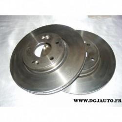 Paire disque de frein avant ventilé 280mm diametre 09893610 pour renault laguna 2