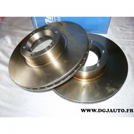 Paire disque de frein ventilé 280mm diametre 24012401621 pour renault master 2 opel movano A