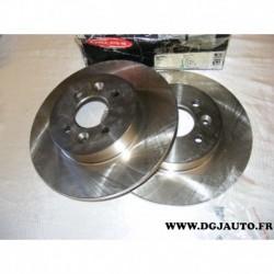 Paire disque de frein 280mm diametre plein BG3992 pour renault kangoo