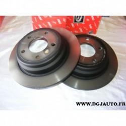 Paire disque de frein arriere plein 298mm DF2768 pour BMW E39 serie 5 520 523 525