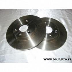 Paire de disque de frein avant plein 247mm diametre 08.5583.10 pour citroen AX