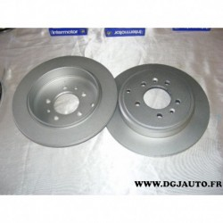 Paire de disque de frein arriere plein 290mm diametre 50369 pour peugeot 607