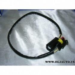 Cable faisceau fiche connecteur adaptateur branchement sonde lambda 13858