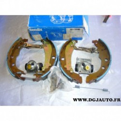 Kit frein arriere NON prémonté incomplet manque 1 ressort 228X40mm montage bendix 381339B* pour peugeot 406 dont break sans ABS