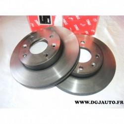 Paire disque de frein avant ventilé 241mm diametre DF4458 pour hyundai i10 kia picanto