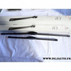 Paire balais essuie glace souple aeroflex 650mm + 450mm 6423.N0 pour citroen C5 partir 2001