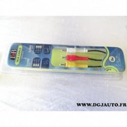 Cable faisceau 3 mètre prise connecteur RCA male male CARCA5 TNB
