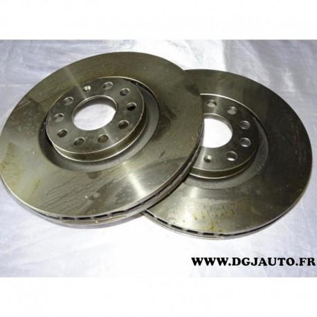 Paire disque de frein avant ventilé 320mm diametre DF4258S pour audi A4 A6 S4 seat exeo