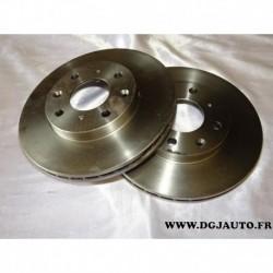 Paire disque de frein avant ventilé 240mm diametre 09.9554.10 pour honda jazz 2 logo 1.2 1.3 1.4