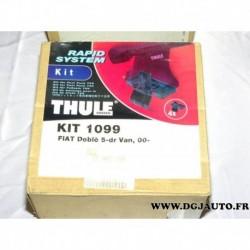 Kit pieds fixation barre de toit KIT1099 pour fiat doblo 1 partir 2000 5 portes
