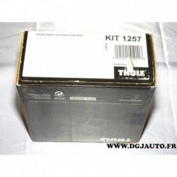 Kit pieds fixation barre de toit KIT1257 pour skoda superb 4 portes sedan de 02/2004 à 05/2007