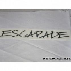 Logo motif embleme monogramme 8666.E9 pour peugeot partner escapade