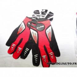 Paire gant moto cross S-line S line rouge taille 9 M gan099