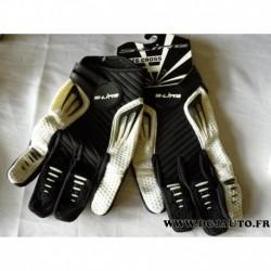 Paire gant moto cross S-line S line noir et blanc taille 11 XL gan099
