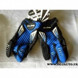 Paire gant moto cross S-line S line bleu taille 7 XS gan099