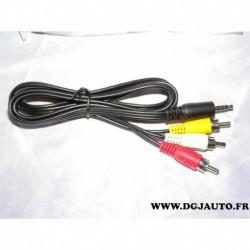 Cable faisceau electrique branchement 3 RCA et 1 prise jack