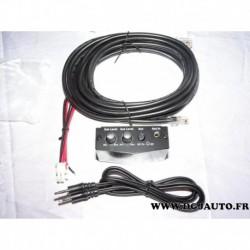 Boitier Boutons commande reglage niveau SUB et AUX système audio (1 languette cable cassé branchement type RJ45)