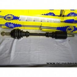 Cardan transmission avant gauche 22/25 cannelures T999 pour peugeot 306 1.6 essence