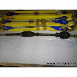 Cardan transmission avant droit 22/25 cannelures T1548 pour citroen C4 peugeot 307 1.4 1.6 16V essence