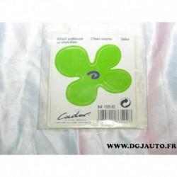 Blister 2 fleurs assorties adhesif prédécoupé sur vinyle blanc sticker 133502 cadox