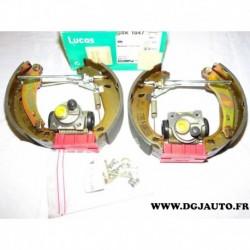 Kit frein arriere prémonté 180x40mm montage bendix GSK1047 pour renault 21 R21