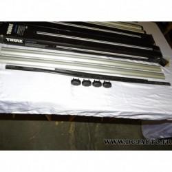 Paire barre de toit aluminium avec bouchons (juste les barres) 108cm de long thule 860