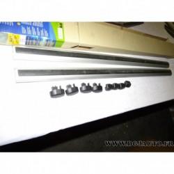 Paire barre de toit aluminium avec bouchons (juste les barres) 108cm de long norauto ALU1