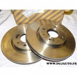 Paire disque de frein avant ventilé 257mm diametre 46423415 pour fiat barchetta brava bravo doblo marea palio punto siena strada