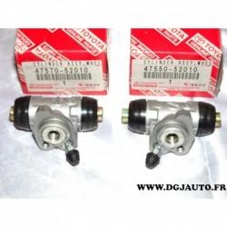 Paire cylindre de roue frein arriere 4757052010 + 4755052010 pour toyota yaris 1.0 de 1999 à 2005