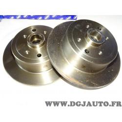 Paire disques de frein arriere 261mm plein sans roulement de roue 9004866J pour opel kadett E vectra A