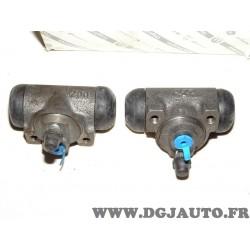 Lot 2 cylindres de roue frein arriere 20.6mm 9945980 pour fiat doblo idea panda punto lancia musa ypsilon Y10