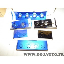 Kit capteurs avec support radar aide au stationnement avant et arriere bleu et noir 08V67TV05D0K pour honda civic type R de 2015