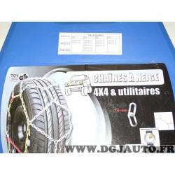 Paire chaines neige 40313 KB380 pour pneu roue jante 4x4 et utilitaires 205/80/14 205/75/14 195/80/15 195/75/15 205/70/15 205/75