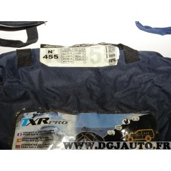 Paire chaines neige TRX PRO housse transport potentiellement déchirée N°450 944455 pour pneu roue jante 4x4 et utilitaires 10/15