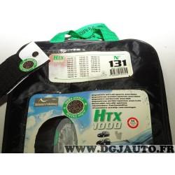 Paire chaussettes neige HTX 1000 N°131 969131 pour pneu roue jante 155/80/13 175/70/13 185/65/13 195/65/13 205/60/13 135/80/14 1