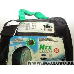 Paire chaussettes neige HTX 1000 N°126 969126 pour pneu roue jante 205/65/13 215/60/13 225/60/13 165/75/14 225/55/14 205/50/15 2