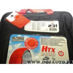 Paire chaussettes neige HTX 2000 N°231 979231 pour pneu roue jante 155/80/13 175/70/13 185/65/13 195/65/13 205/60/13 135/80/14 1