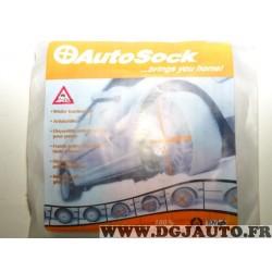 Paire chaussettes neige Autsock N°66 pour pneu roue jante 215/70/14 215/75/14 175/80/15 195/75/15 205/70/15 205/75/15 215/65/15